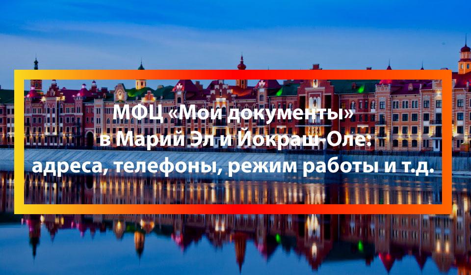 МФЦ Большие Шали, Моркинский район
