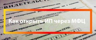 Регистрация ИП в МФЦ