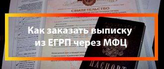 Как заказать выписку из ЕГРП через МФЦ