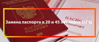 Как заменить паспорт в МФЦ в 20 и 45 лет
