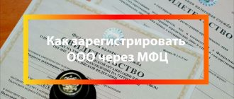 Регистрация ООО через МФЦ