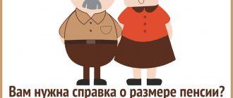 справка о размере пенсии
